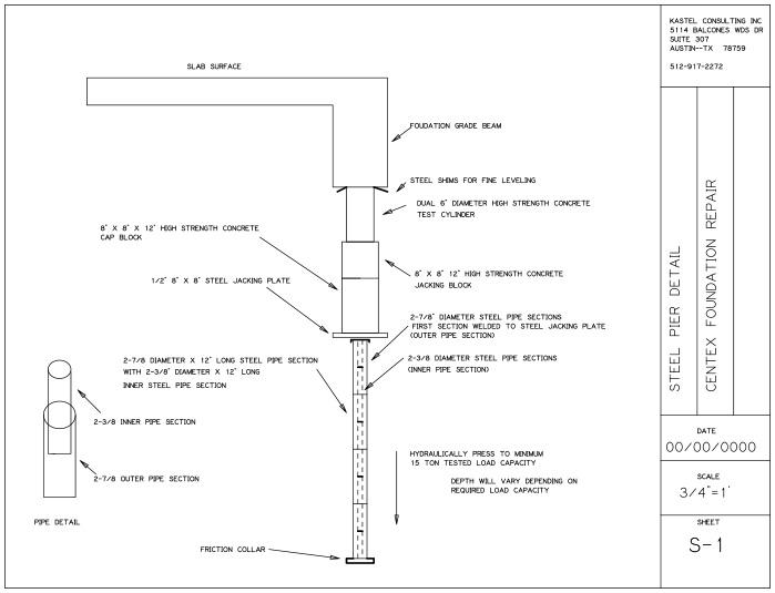 Steel Pressed Piling Diagram Centex Foundation Repair
